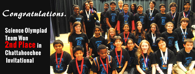 Fulton Science Academy 2nd place science olympiad